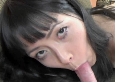 Yuka Ozaki gives Logan a blowjob