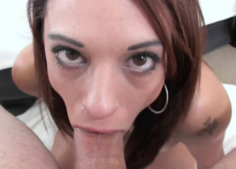 Petite wife Eva swallows a big dick