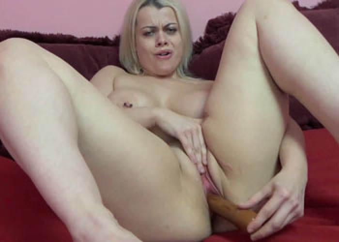 Curvy milf liisa stuffs a big black dong into her twat 10