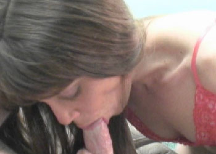 Sammi masturbates while sucking a cock